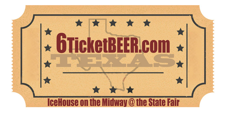 Cheap and Cold Beer at the State Fair - 6 tickets, Dallas, Texas, Icehouse on the Midway